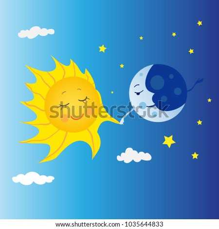 the moon and the sun are