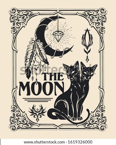 the moon tarot card inspired