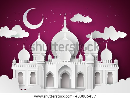 the mosque and the sky at night