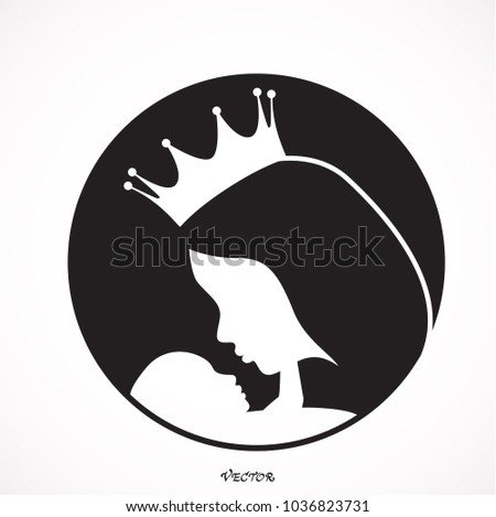 the mother in the crown holding