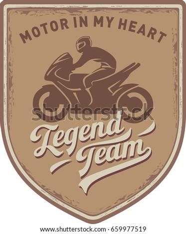 the motorcyclist  a legend team