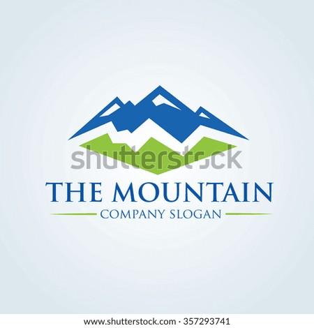 the mountain logo vector logo