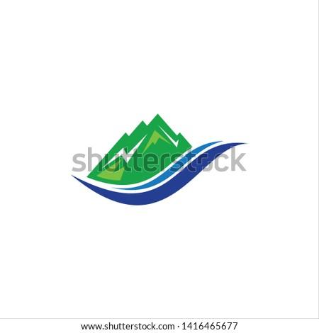 The mountain Logo Vector, mountain symbol, mountain icon, Mountain logo template.