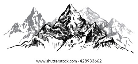 the mountains. vector drawing...