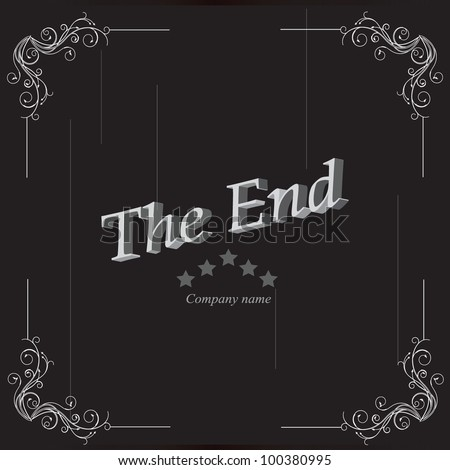 The movie ending screen
