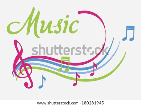 The music icon over white  background vector illustration