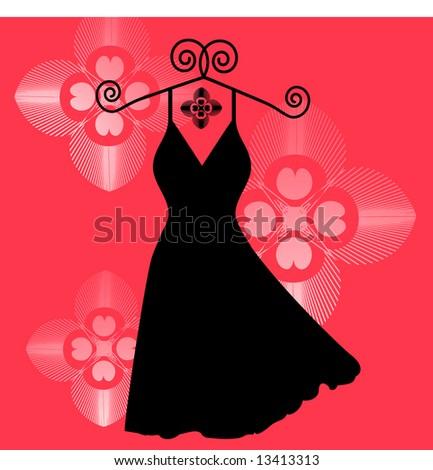 Little Black Dress Clip Art at Clkercom  vector clip art