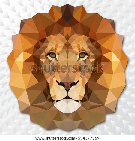 the muzzle lion vector