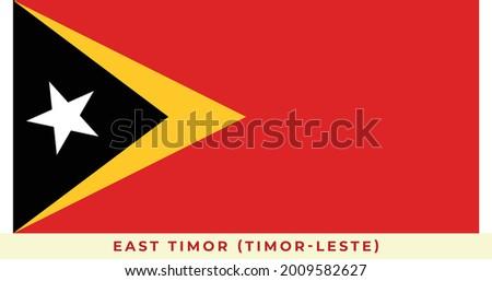 The national flag of East Timor (Timor-Leste). Vector illustration of East Timor (Timor-Leste), Vector of East Timor (Timor-Leste) flag. Stock fotó ©