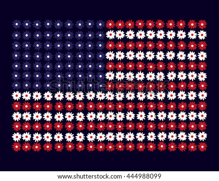 the national flag of flowers
