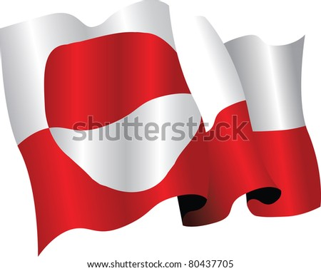 the national flag of greenland