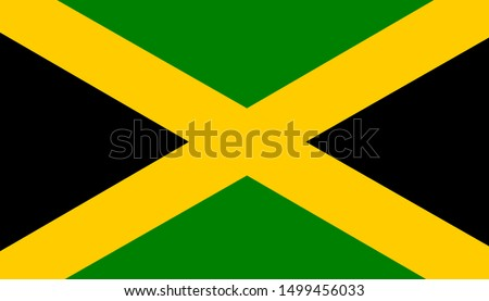 The national flag of jamaica.