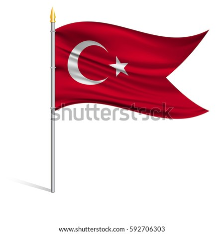 the national flag of turkey on