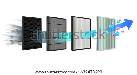 The new air filter technology consists of multiple filter layers. Coarse fiber, carbon layer, air purification layer, prevent PM2.5 dust, germs, viruses, bacteria, purify the air.