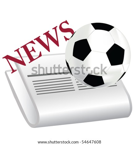 The newspaper with news about football.