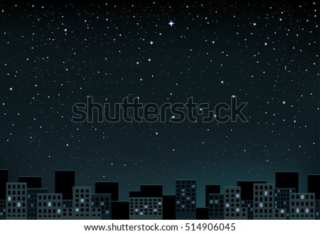 the night city and space with