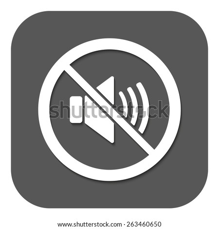 The no sound icon. Volume Off symbol. Flat Vector illustration. Button