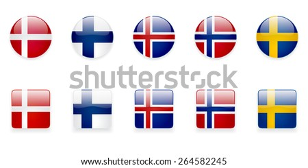 the nordic countries flags