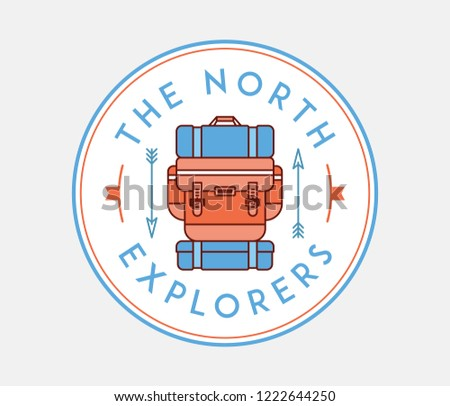 The north explorers is a vector illustration about discovering and exploring