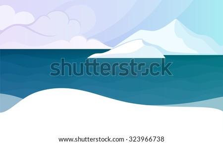 the north pole polar landscape