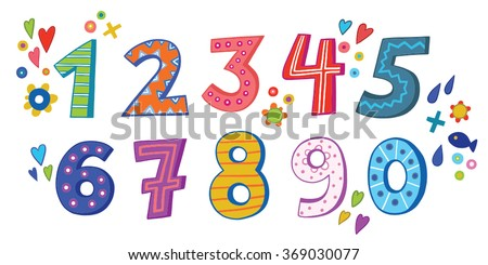 the numbers in fun in the style