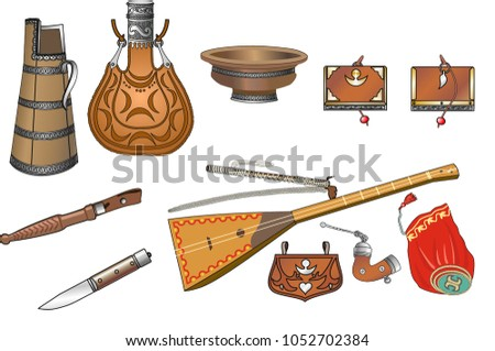 Hillbilly clipart icons and elements,… Stock Photo 48101095