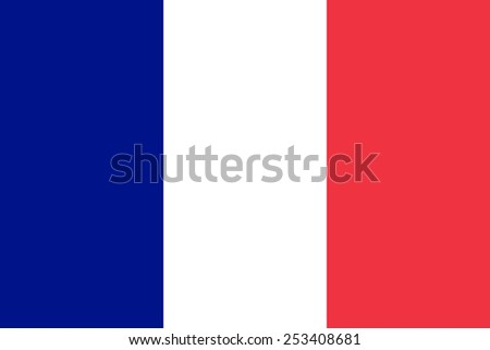 Stock Photo The official flag of France in both sze and color. Also known as Tricolour