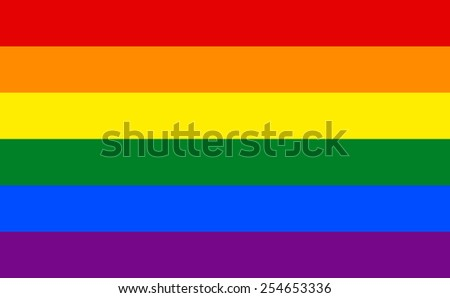 the official flag of gay pride