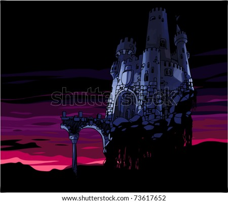 the old dark castle with the