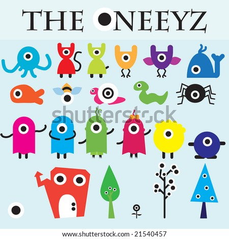 The Oneeyz vector carachter design collection