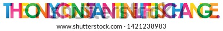 THE ONLY CONSTANT IN LIFE IS CHANGE. colorful vector typography banner Foto stock ©