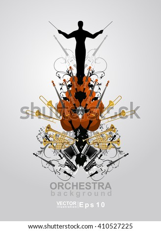 the orchestra vector background