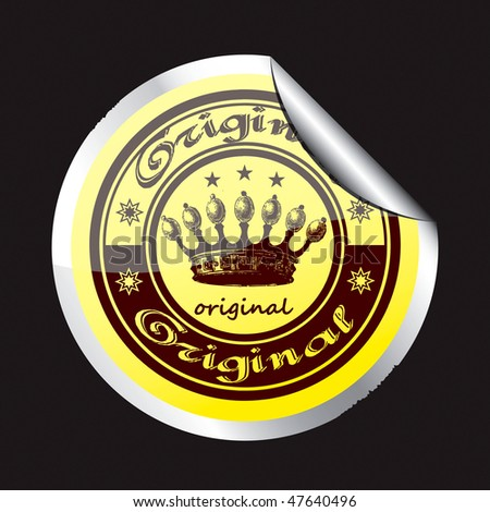 The original sticker with the image of the crown and the word original.