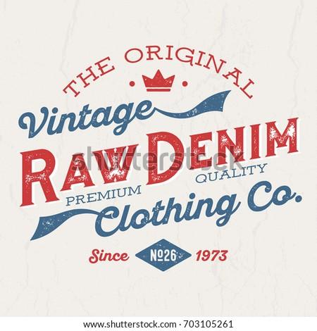 the original vintage raw denim  ...