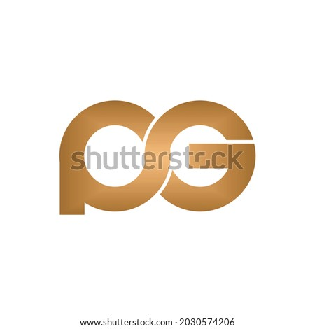 The P and G Logos That Tie To Each Other, Logo Design Illustration Vector Zdjęcia stock ©