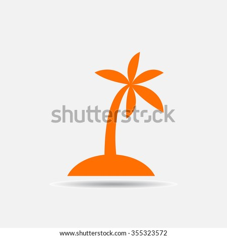 the palm icon  vector