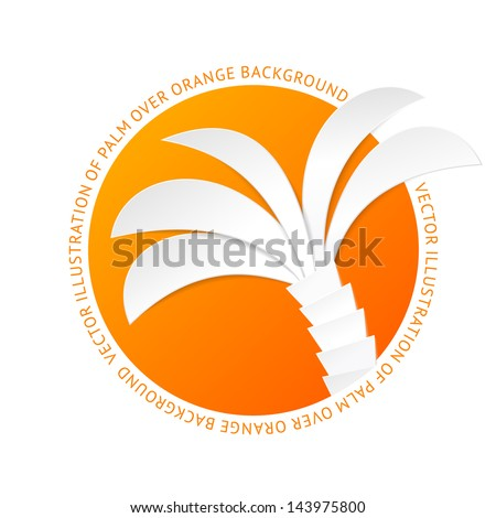 the palm tree tag vector
