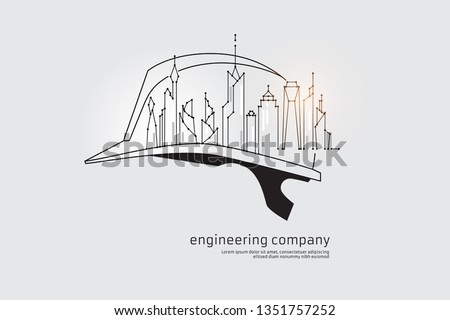 The particles, geometric art, line and dot of engineering. abstract vector illustration. graphic design concept of construction. - line stroke weight editable ストックフォト ©