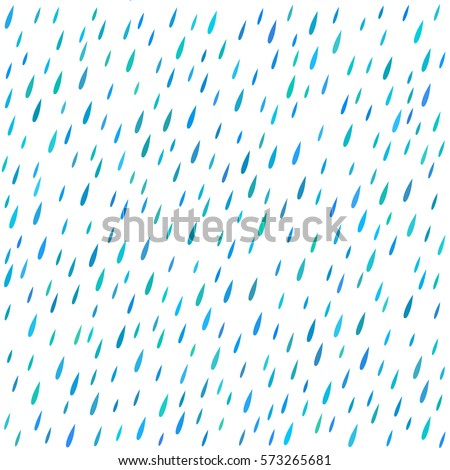 The pattern of rain drops colored in blue tones.