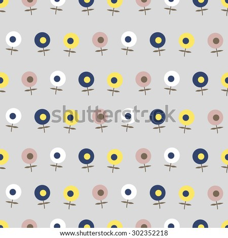 The pattern of small flowers. Pastel pattern of several types of small flowers. Light option.
