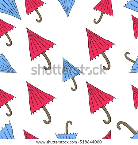 the pattern of umbrellas