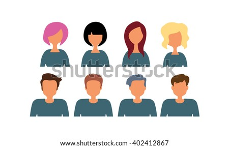 The people at work. Vector illustration.