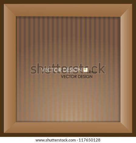 The photo frame on the wall, vector illustration. - stock vector
