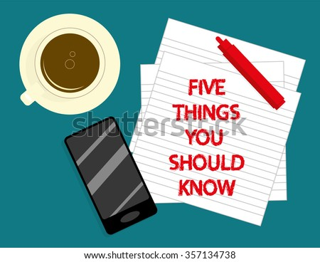 the phrase five things you