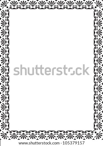 The picture isolated on white