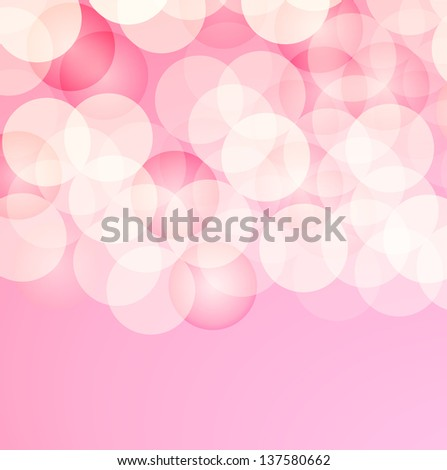 The pinkish abstract background with light circles  / beauty background