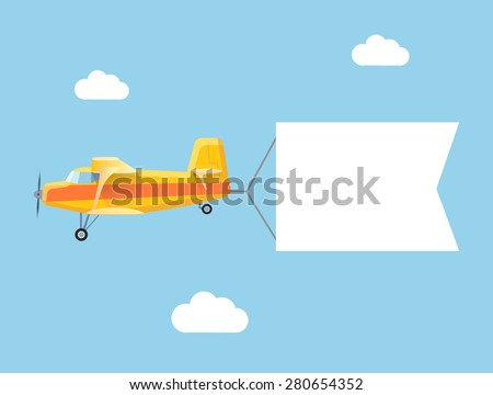 the plane flies with long