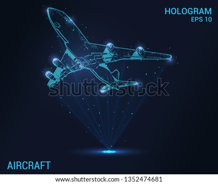 the plane hologram digital and