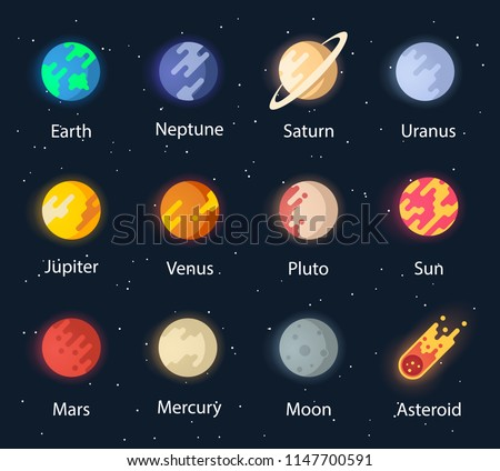 The planet of the solar system. Vector space. Interplanetary travels. The solar system is a set of planets.