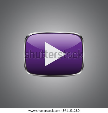 the play button violet color